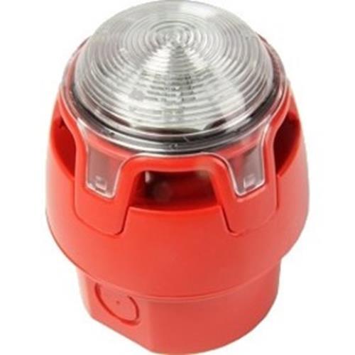 Sirén/blixtljus röd/rött, 107dB, IP65