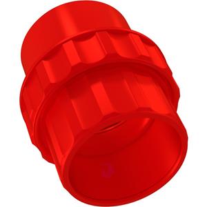 Bisson - rød - 25 mm Ø x 48 mm - Akrylnitril-butadien-styren (ABS)