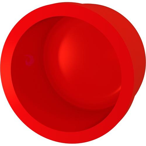 Bisson - rød - 25 mm Ø x 31 mm - Akrylnitril-butadien-styren (ABS)