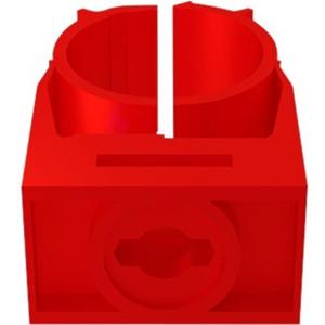 Bisson for Rør - Akrylnitril-butadien-styren (ABS) - rød